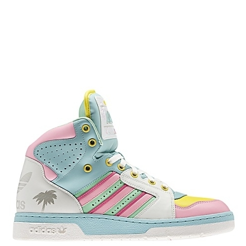 la moitié 7b9de cb9b1 adidas Jeremy Scott License Plate Miami Shoes